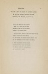 Epitaph (Lyric in Memory of Gertrude Stein)