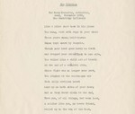 The Citation: For Mary Marcotte, arthritic, dead, November 1952, the Cambridge Infirmary