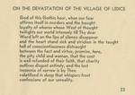 On the Devastation of the Village of Lidice