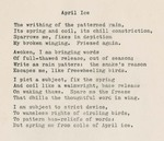 April Ice by William Alfred