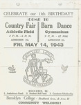 1943 Flyer for the Brooklyn College Country Fair