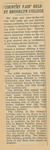 1941 College Fair Report arranged for publicity committee, page 33
