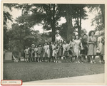Female Students Lined Up After Arriving