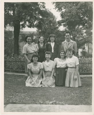 Students Posing for Picture Outside