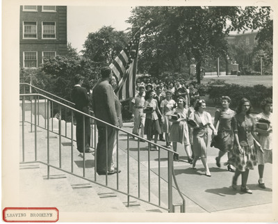 Students on Campus Leaving Brooklyn