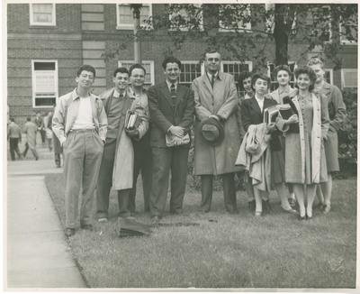Students on Campus With Harry D. Gideonse