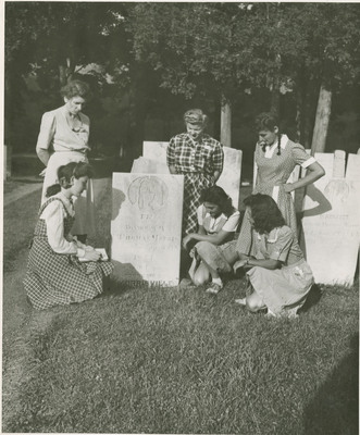 Female Students in a Cemetery