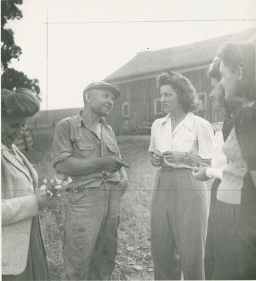 Students Talking With Farmer
