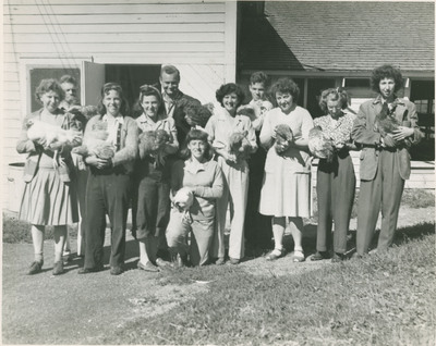 Students Holding Live Chickens