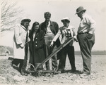 Students with Farm Equipment
