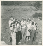 Group of Students Using Binoculars