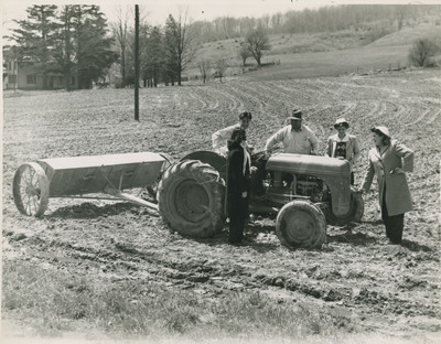 Students Using Tractor