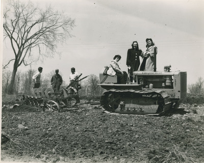 Students Driving Tractor