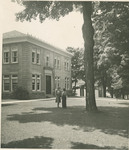 Students in Front of Building