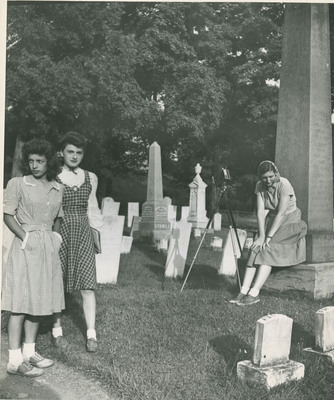 Female Students in a Cemetery 2