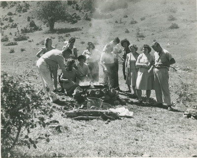 Cooking on a Camp Fire