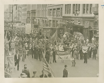 Photograph of Brooklyn College Contingent in NRA Parade