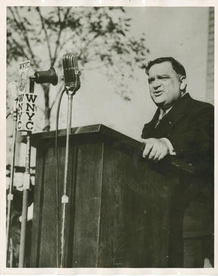 Mayor LaGuardia at Dedication