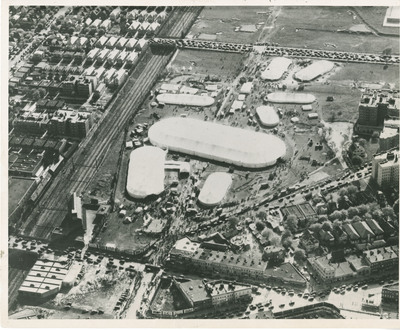 Aerial View of Circus Grounds