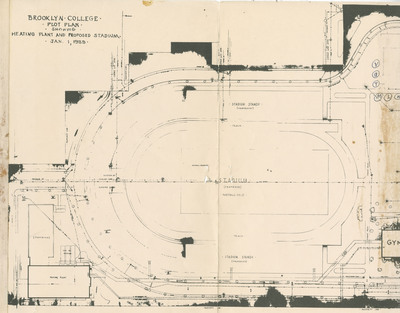 Plot Plan Showing Heating Plant and Proposed Stadium