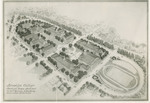Architect's Rendering of Proposed Brooklyn College Campus by Randolph Evans