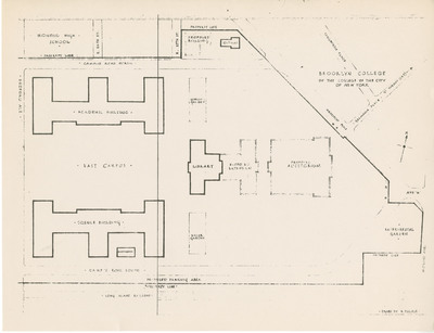 Plot Plan Showing Library, Academic and Science Buildings and Proposed Improvements