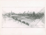 View of Mall Toward Science and Library Buildings, Brooklyn College by Randolph Evans