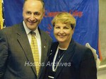 Dolores Fernandez and Charles E. Schumer photograph by Hostos Community College