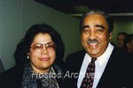 Isaura Santiago Santiago and Charles B. Rangel photograph by Hostos Community College