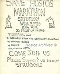 Save Hostos Marathon Flyer by Hostos Community Coalition