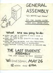 Last Student Assembly Flyer by Hostos Community College