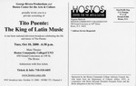Flyer- Tito Puente: The King of Latin Music/ A George Rivera Productions Documentary (back) by Hostos Community College