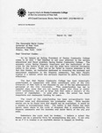 Letter- Acting President of Hostos Community College to the Governor of NY Hon. Mario Cuomo, page 1
