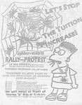 Let's Stop The Tuition Increase! Spider-mania/ Rally-Protest Flyer, page 1
