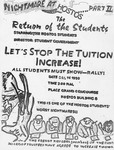 Nightmare at Hostos…Part III/ The Return of the Students…Let's Stop the Tuition Increase! Flyer