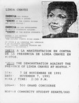Linda Chavez, Enemiga del pueblo/ Enemy of the Puerto Ricans and Latin People Flyer by Hostos Community College