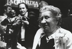 Marie LaGuardia at the Unveiling of the Statue of Her Husband Mayor Fiorello LaGuardia