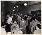 Food Line at a New York Trade School Social Event