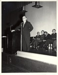 George E. McLaughlin Speaking at a New York Trade School Commencement Ceremony