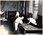 Students working in Piano Crafts Department