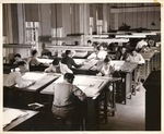 View of drafting section in Air Conditioning Department of the New York Trade School