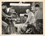 Demonstration of Closed Circuit TV by filming Wiliam C. H. Meyer in an Automotive classroom at the New York Trade School