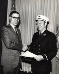 Herbert M. Sussman presenting award